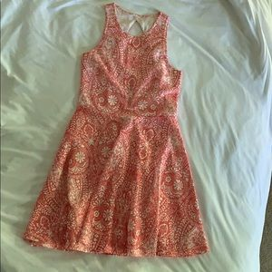 Coral and White Spring/Summer Dress (teens)